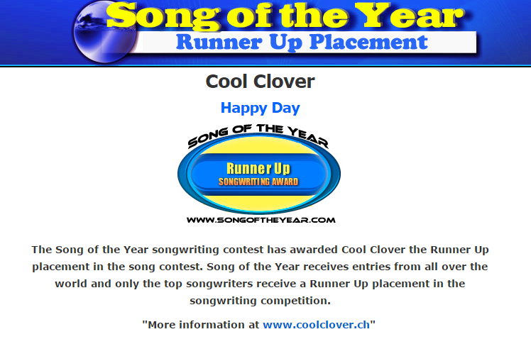Cool Clover Song Of The Year Contest_2
